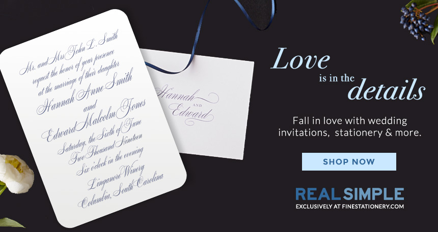 Fall in love with wedding invitations, stationery & more.