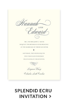 Splendid Ecru Invitation