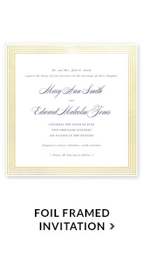 Foil Framed Invitation