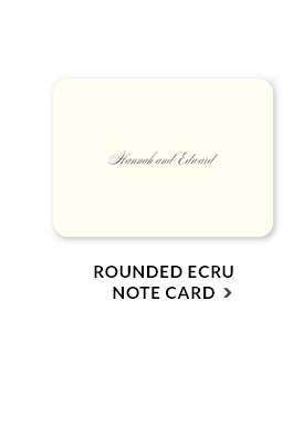 Rounded Ecru Note Card