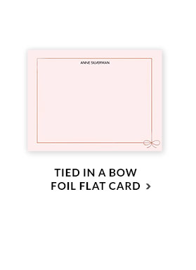 Tied in a Bow Foil Flat Card