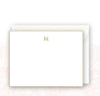 Shop Gilded Monogram Flat Card